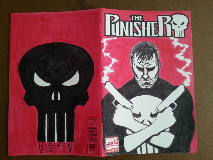 THE PUNISHER #1 VARIANT SKETCH COVER WITH ORIGINAL ART