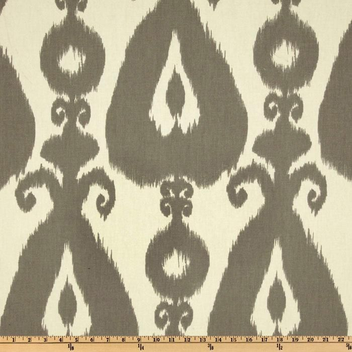 Cool fabric for furniture slip covers or throw pillows. Islander Ikat Silver on Fabric.com