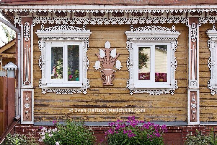 Резные деревянные цветы   Nalichniki.com