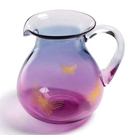Glass with a blue and violet ombré finish, and butterfly accents. Holds 1.7 litres. 17 cm H. Hand wash. Avon will donate 10% of the sale price from domestic violence fundraising products to the Avon Foundation for Women Canada to support Speak Out Against Domestic Violence programs across the country.