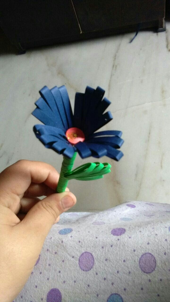 Quilling 3d flower from somya