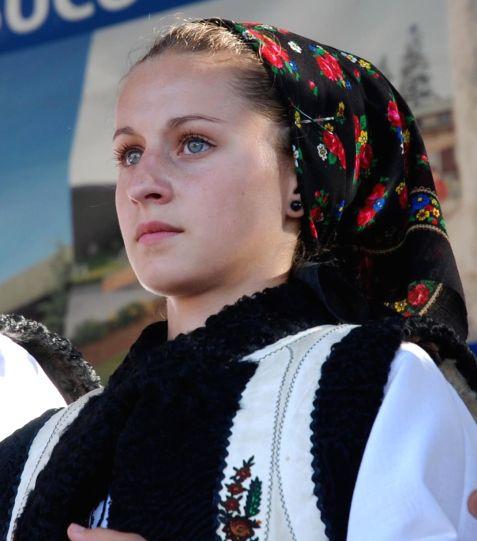 romanians people traditional costume clothing Bucovina Romania