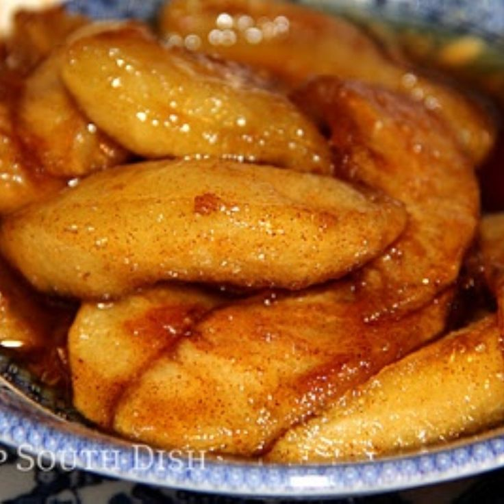Deep South Dish: Southern Skillet Fried Apples - my grandma used to make these, and serve them with sausage, or thinly sliced ham, and buttermilk biscuits. Yum.