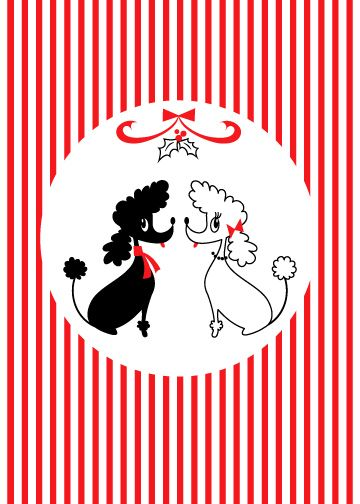 Poodles at Christmas. Posted by Redlandspoodles.com