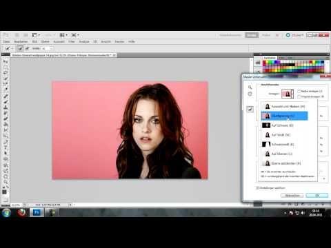 Photoshop CS5 Person / Bild Sauber Ausschneiden (Hintergrund) - [Tutorial Deutsch German] Auch GIMP - YouTube