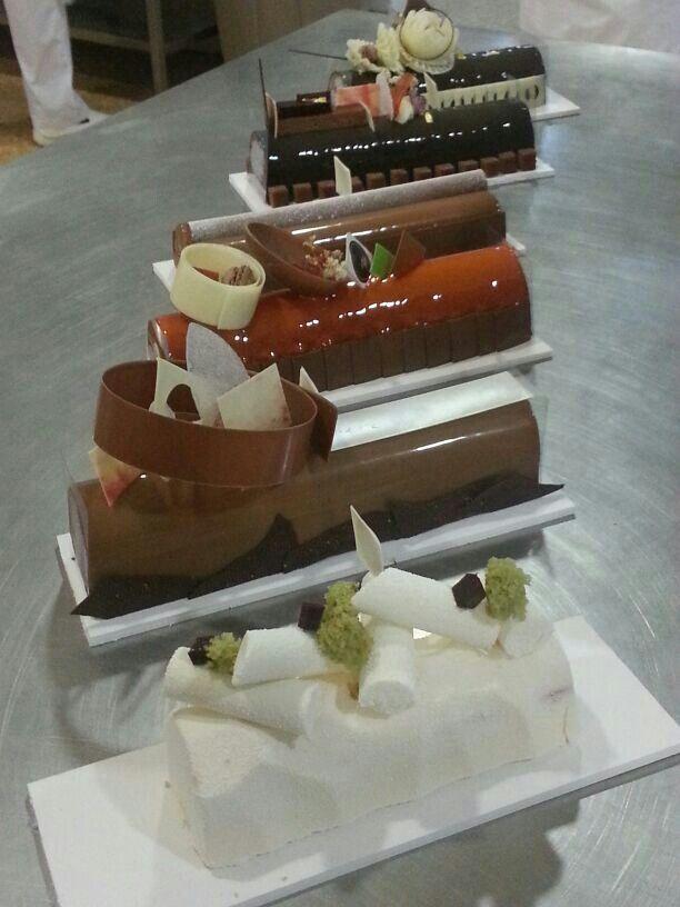 Troncos de navidad. Escuela de pasteleros de Valencia