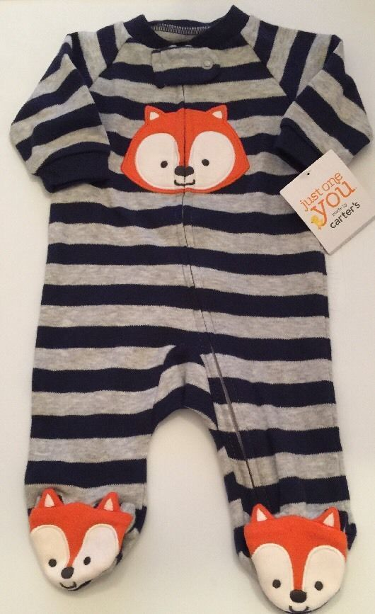 """❤️Fun Critter❤️""-Just One You By Carter's Baby Boy Sleeper-NEWBORN"