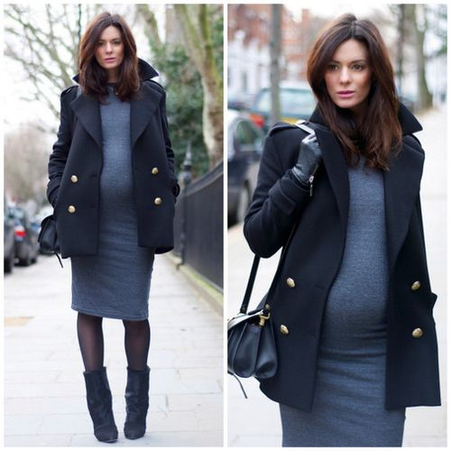 Long wool dresse for fall and winter. #pregnancy #style