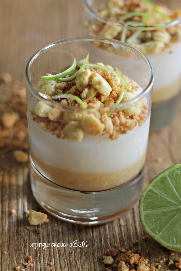 Tropical Verrine with Coconut Cream and Lime Crumble - Verrine tropicali con crema al cocco e crumble al lime | Un Pinguino in Cucina