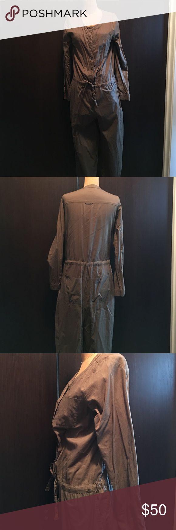 Jumpsuit Khaki one-piece jumpsuit with drawstring waist H&M Other