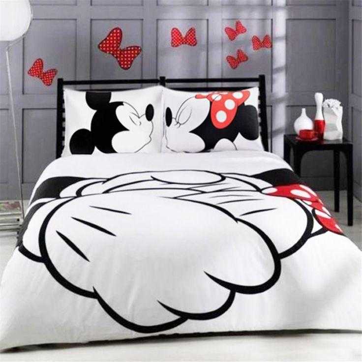 Disney Juego De Cama Funda De Edredón Con Estampado De Mickey Mouse y fundas de almohada Conjunto de 3 piezas   Hogar y jardín, Ropa de cama, Fundas y juegos de edredones de plumas   eBay!