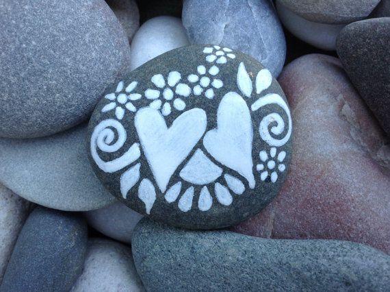 Ensemble / blanc série Zen / Rock peint / Sandi par LoveFromCapeCod