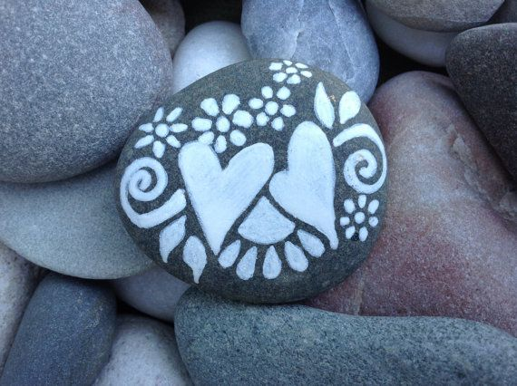 Together+/+White+Zen+series+/+Painted+Rock+/+by+LoveFromCapeCod