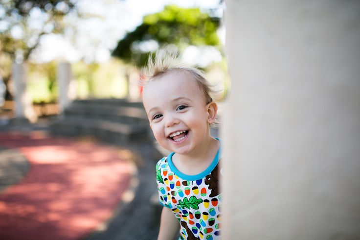 Happy toddler wearing Duns Sweden Squirrel T-Shirt. Photo by The RHP Project.
