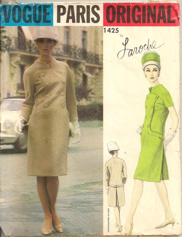 Vintage 1960's Dress Pattern Vogue Paris Original 1425 Laroche    Just bought this one!