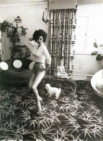 """Diane Arbus Photo--- The female model dancing """"at home"""""""