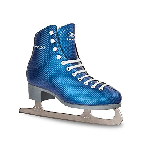 Botas Womens Blue Ice Skates  ANITA  Made in Europe Czech Republic Adult Size 65 * Want to know more, click on the image. (Amazon affiliate link)