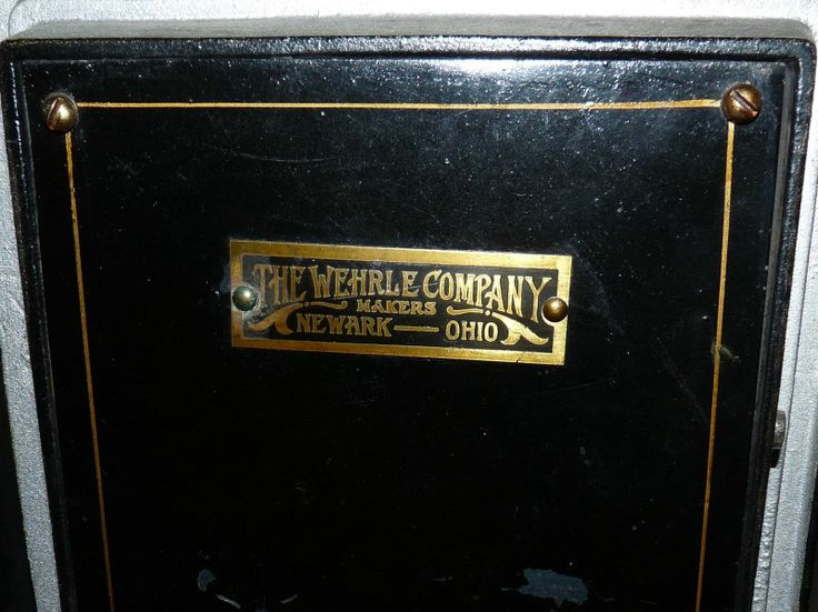 Antique The Wehrle Co Makers Newark Ohio Small Safe Home Vault Vintage Old Works | eBay