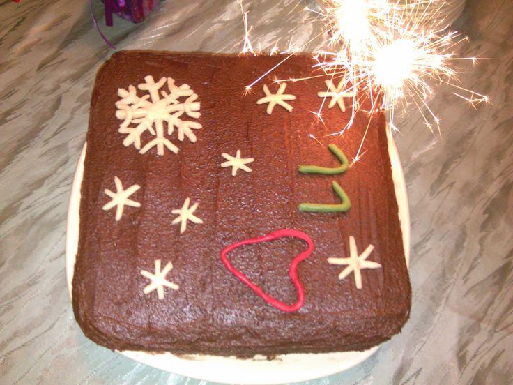 Andi lányom hópihés tortája