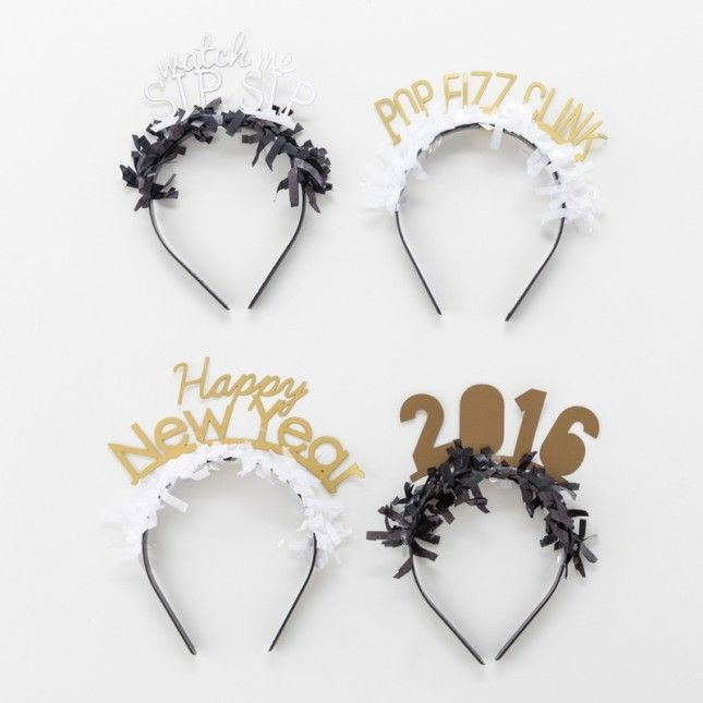 New Year's Eve headbands are a must.