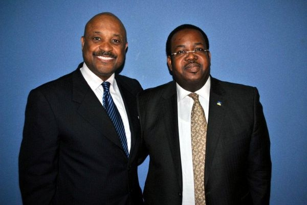 Willie Jolley and FirstBank of Nigeria's GMD/CEO, Bisi Onasanya