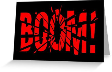 Cartoon BOOM Greeting Card by Chillee Wilson