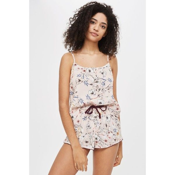 Topshop Sketchy Floral Cami Top ($20) ❤ liked on Polyvore featuring tops, pink, cami top, pink camisole, topshop cami, cami tank and pink floral top