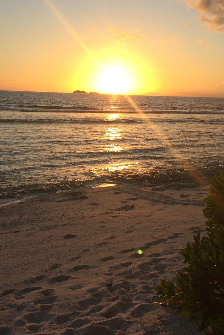 #sunrise and #sunset on fregate island #seychelles