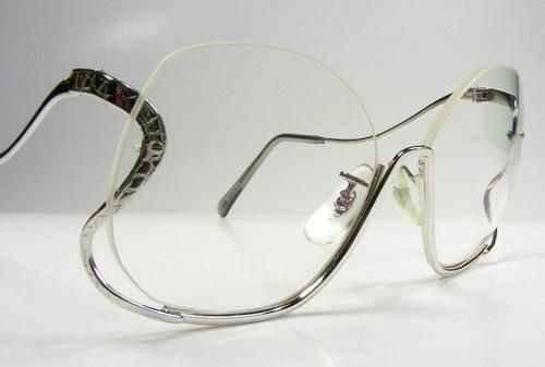 Silver Womans Semi Rimless Wild Drop Temple Wire Rim