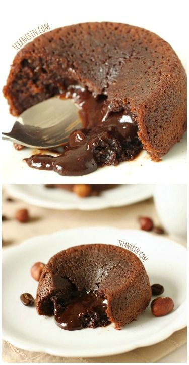 This healthier molten lava cake recipe makes just enough for two and the cakes taste just as sinful as the more traditional kind!