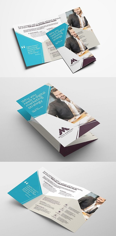 digital marketing tri fold brochure curioso interesante