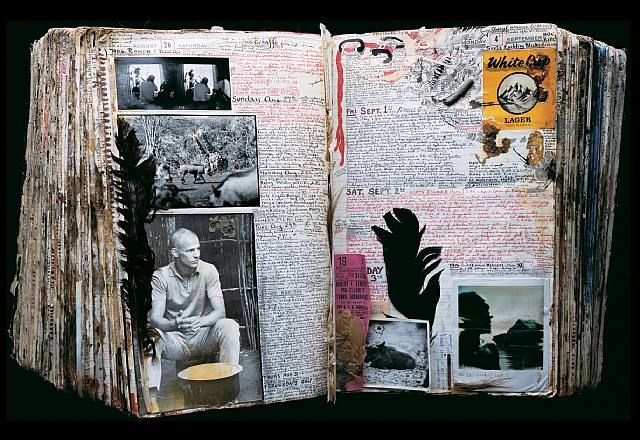 One spread in the amazing 20+ year body of work of Peter Beard.  It is fascinating to see the evolution and progression of his work through the years.