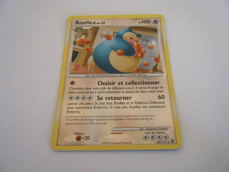 Ronflex Reverse NIV 37 100PV 33 111 Pokemon Platine Rivaux Emergeants   eBay