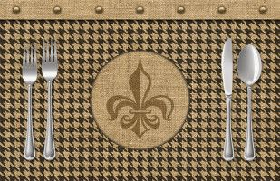 French Quarter Paper Placemat @ Sussies Home