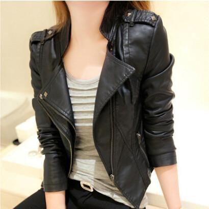 Punk PU Leather Women Veste Cuir Femme Black jackets Vintage Coats Chaquetas de cuero mujer #sheerbliss #bestoftheday  #leatherjacket #leather #handemade #leathercraft #fashion