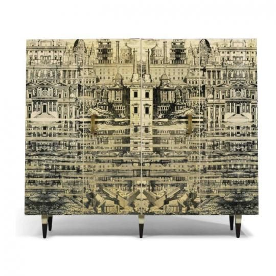 Reflecting City Cabinet by Piero Fornasetti and Gio Ponti