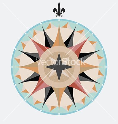 Vintage compass vector on VectorStock