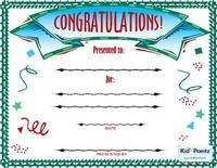 Free Congratulations Certificates for Kids | Kid Pointz