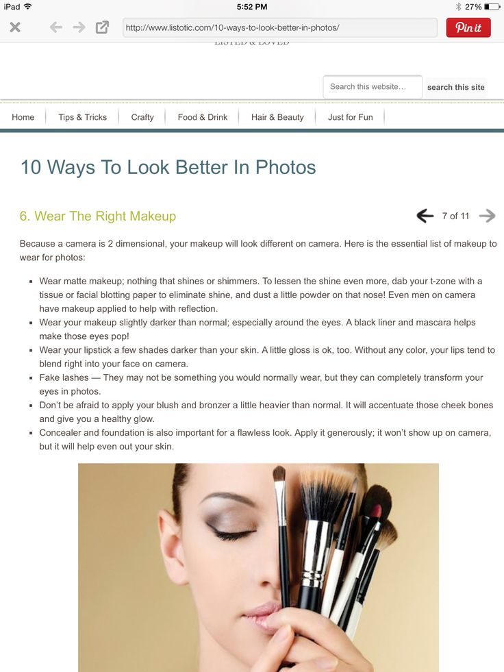 Make up for pictures