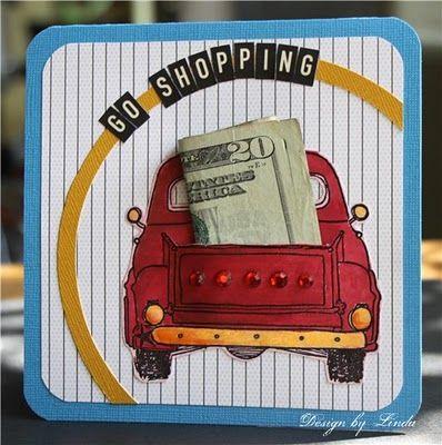 Card // idea // by Girls like Trucks - Boys like Sand // nice way to give money