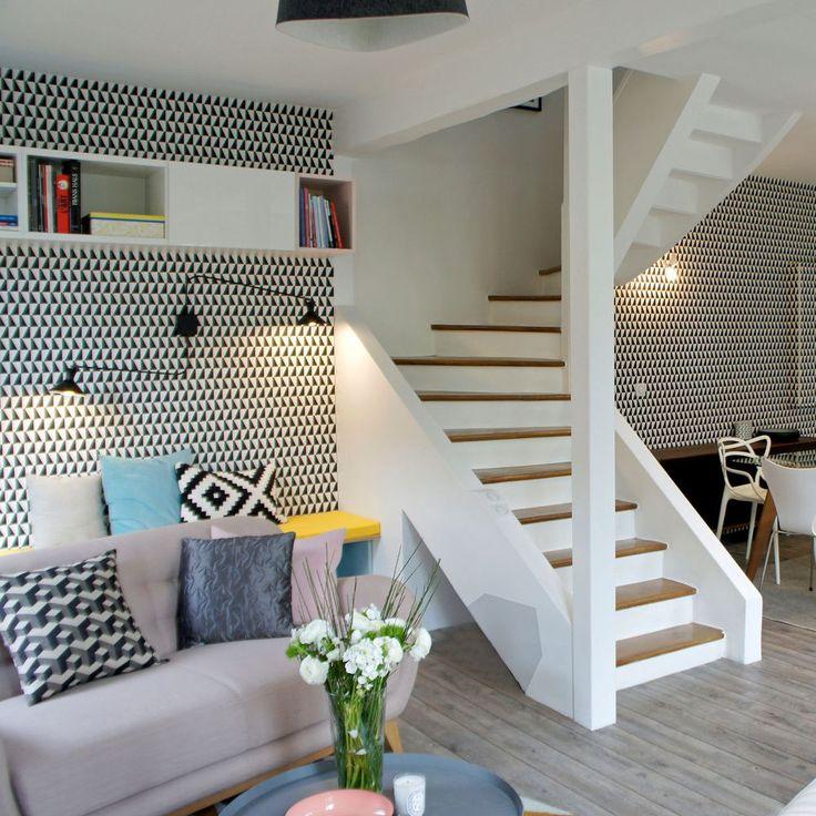Une décoration de style scandinave dans ce séjour rénové de 38m2