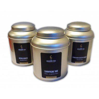 Aanbieding bewaarblikken met losse thee van Van Bruggen Thee - van Bruggen Thee