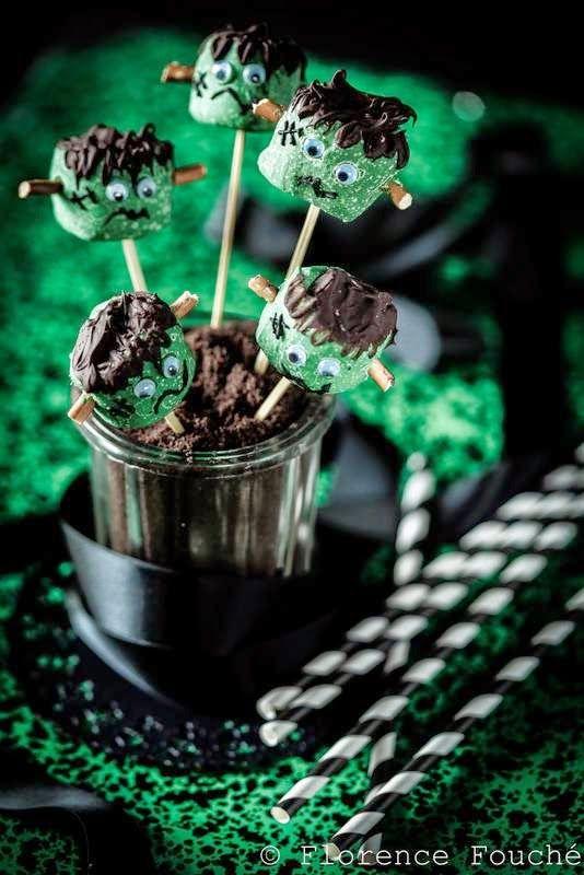 Gourmandises Chroniques: Goûter d'Halloween : Sucettes Frankenstein
