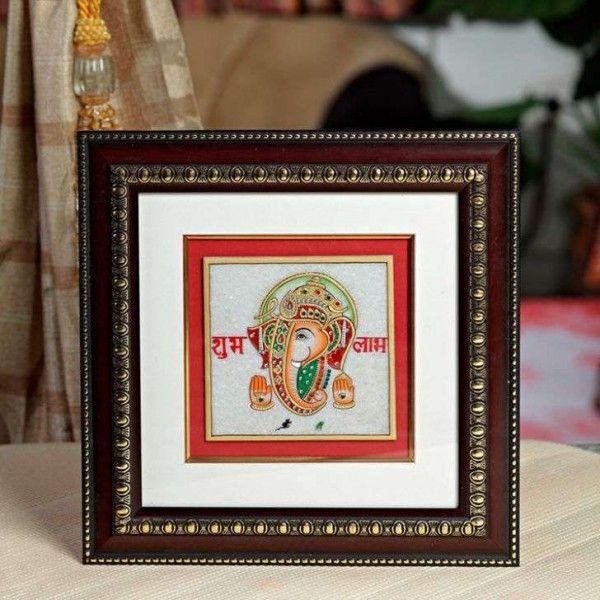 Gold+Painted+Lord+Ganesh+Wall+Hanging via @giftcart