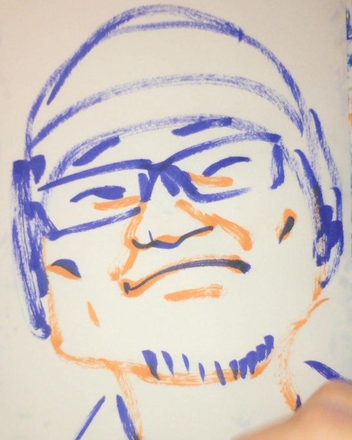 1mindrawさんはInstagramを利用しています:「#1mindraw #aoyamagosho #青山剛昌 #名探偵コナン #19630621 #birthday #誕生日 #portrait #筆ペン画」