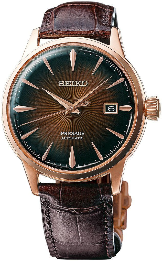 @seikowatches Presage Cocktail Automatic #add-content #basel-17 #bezel-fixed #bracelet-strap-leather #case-depth-11-8mm #case-material-rose-gold #case-width-40-5mm #date-yes #delivery-timescale-call-us #dial-colour-black #gender-mens #limited-code #luxury #movement-automatic #new-product-yes #official-stockist-for-seiko-presage-watches #packaging-seiko-presage-watch-packaging #style-dress #subcat-presage #supplier-model-no-srpb46 #warranty-seiko-presage-official-2-year-gua...