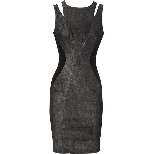 Summer suede dress (€380) ❤ liked on Polyvore featuring dresses, vestidos, black dresses, short dresses, women, metallic dress, mini dress, metallic mini dress and summer dresses