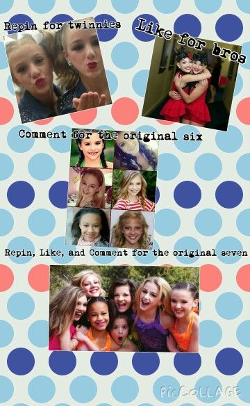 Dance moms-first five people to repin this gets a follow
