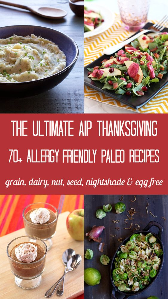 Make your AIP Thanksgiving a breeze with this collection of over 70 gluten, dairy, nut, seed and egg free recipes that are allergy friendly and delicious.