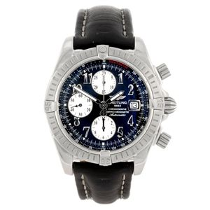 A stainless steel automatic gentleman's Breitling Windrider Chronomat Evolution chronograph watch. Estimate GBP: £700 - £1,000